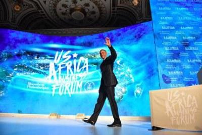Barack Obama lors d'un sommet d'affaires EU-Afrique le  21 septembre 2016 à New York.