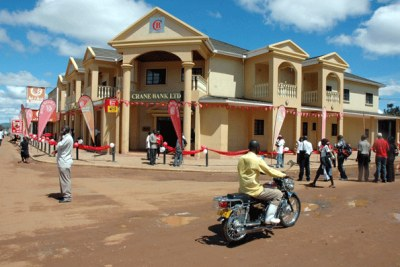 Crane Bank's Iganga branch (file Photo).