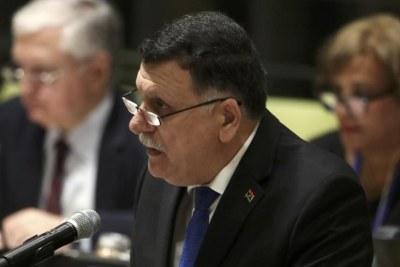 Le Premier ministre du gouvernement libyen d'union nationale, Fayez el-Sarraj