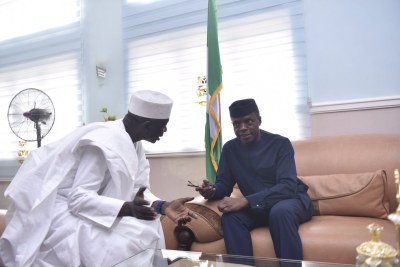 Yemi Osinbajo meets with the Prime Minister of Guinea Bissau General Umoru Sissco Embalo.
