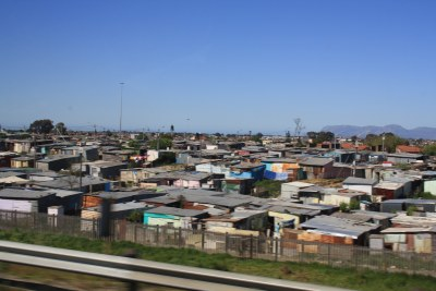 Informal settlements in Cape Town, South Africa.