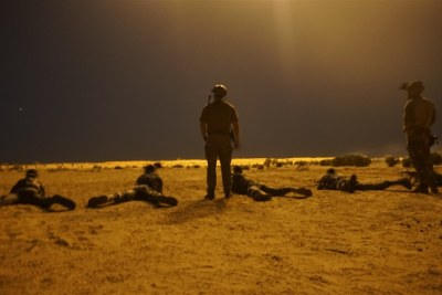 Troops from Niger being trained by United States special forces troops.