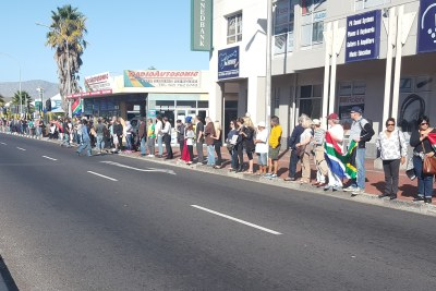 Anti-Zuma Protesters Take to the Streets in Cape Town