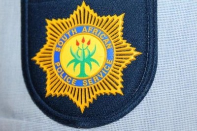 South African Police Service officer's badge (file photo).
