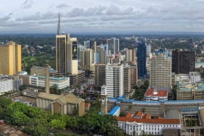 An overview of Nairobi CBD.