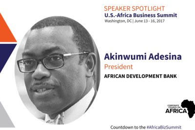 AfDB President Akinwumi Adesina will be speaking at the CCA 2017 Africa Business Summit in Washington, DC.