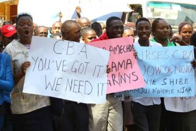 Nurses strike over salary agreement (file photo).