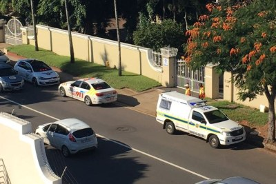 The scene in Berea, KwaZulu-Natal where a parcel bomb injured five people.