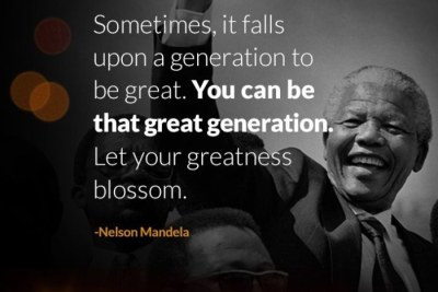 Mandela Day quote.