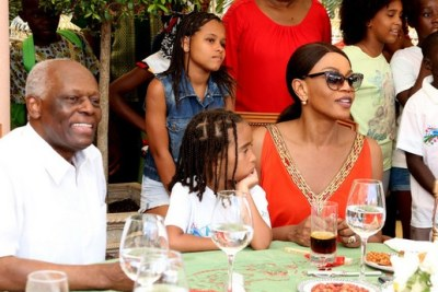Former Angolan president José Eduardo dos Santos and his wife Ana Paula dos Santos (file photo).