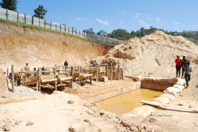One of the gold mining sites supervised by local artisanal miners in Katenga Engaju Sub-county, Buhweju District (file photo).