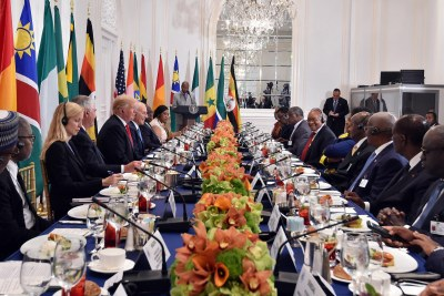 African Heads of State and Government during the Working Luncheon hosted by President Donald Trump in honour of African Leaders on the sidelines of the 72nd Session of the United Nations General Assembly.