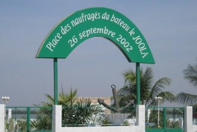 Place des naufragés du Joola à Ziguinchor