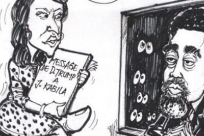 Caricature du président Kabila et Nikki Haley