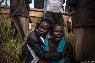 Women mourn the death of a loved one in South Sudan (file photo).