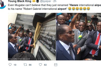 People react to renaming of Harare International Airport.