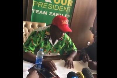 Zanu PF youth leader Kudzai Chipanga.