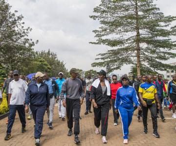 Kigali Car Free Day Workout