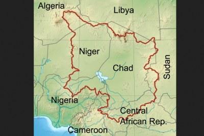 Lake Chad basin map.