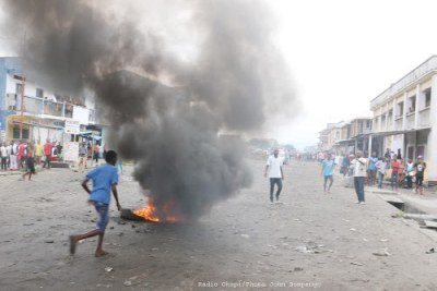 Riots in Kinshasa (file photo).