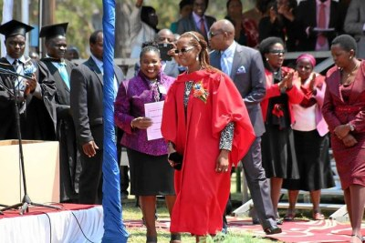 Grace Mugabe on graduation day.