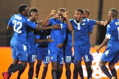 La Namibie jubile après sa victoire contre la Côte d'Ivoire en CHAN 2018 au Maroc