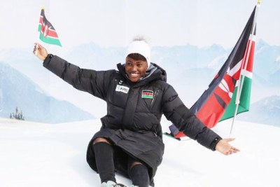 Kenya's lone representative at the 2018 Olympics, Sabrina Wanjiku Simader.