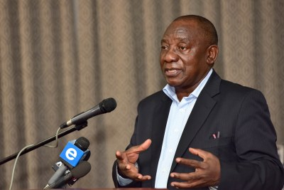 President Cyril Ramaphosa (file photo).