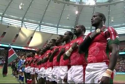 Kenya Sevens team.