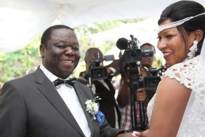 The late Morgan Tsvangirai and wife Elizabeth Macheka(file photo).