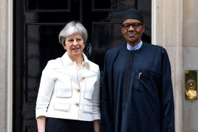 President Muhammadu Buhari and UK Prime Minister, Theresa May.