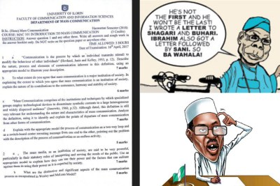 UNILORIN used Obasanjo's open letter to Buhari to set exam question for its Mass Comm 100L students.