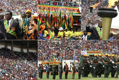 Zimbabwe's 38th independence day celebrations.