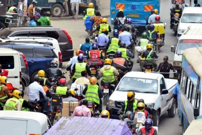 Boda boda riders at the junction of Kirinyaga and Racecourse Road in Nairobi (file photo).