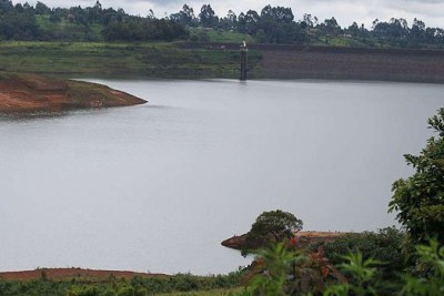 An image of a half-empty Ndakaini Dam (file photo).