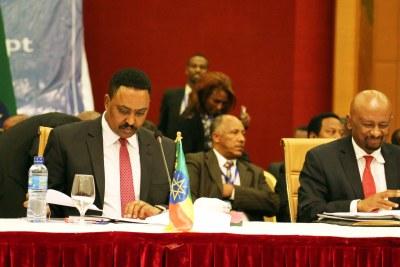 (Photo d'archives) - La 2e réunion ministérielle tripartite de haut niveau de l'Éthiopie, du  Soudan et de l'Égypte sur le grand barrage de la Renaissance éthiopienne (GERD) s'est ouverte plus tôt dans la journée (15 mai 2018) à l'hôtel Intercontinental d'Addis Abeba.