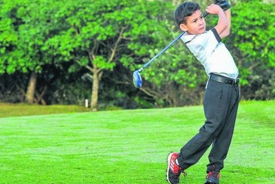 Golf prodigy Traigh Pathon, 8, from Athlone, Cape Town (file photo).