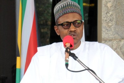 President Muhammadu Buhari speaking on Democracy Day
