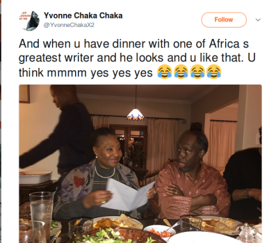 The Yvonne Chaka Chaka and Ngugi wa Thiongo's Photo That's Puzzling Tweeps