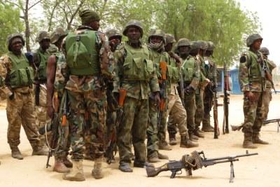 Nigerian soldiers.