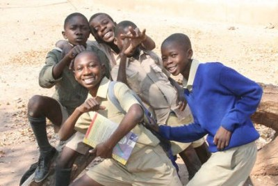 Young students in Zimbabwe (file photo).