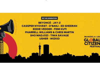 A star-studded Global Citizen Festival in South Africa.