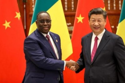 Le président chinois, Xi Jinping avec son homologue sénégalais Macky Sall.