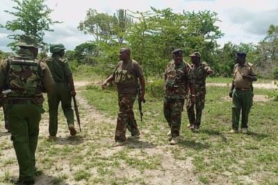 Police on patrol in Lamu (file photo).