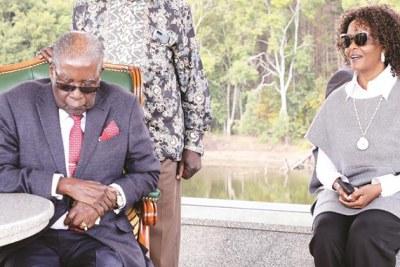 Former president Robert Mugabe and his wife Grace Mugabe.