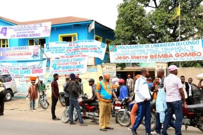 L'ambiance au siège du MLC à Kinshasa (archive)