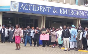 Police Fire Teargas at Striking Kenyan Healthworkers
