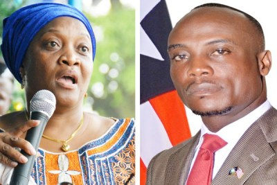 Vice-President Jewel Howard-Taylor, left, Minister Daniel Dee Ziankahn and other government officials in Liberia have declared their assets to anti-graft institutions.