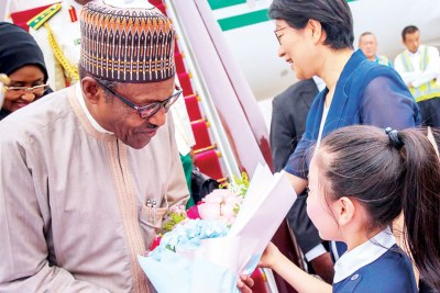 President Muhammadu Buhari in China, yesterday, for a six-day official visit/attend the Beijing Summit of the Forum on China-Africa Cooperation
