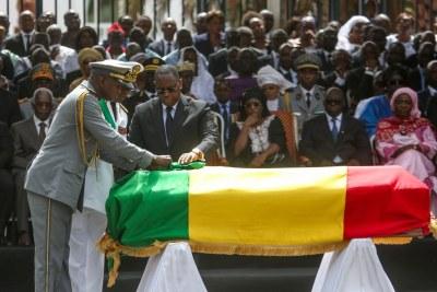 Cérémonie d'hommage au ministre Bruno Diatta